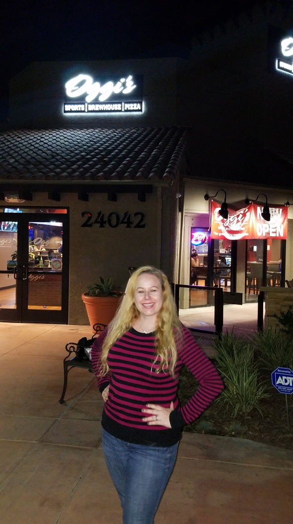 Dani outside of Oggi's Mission Viejo