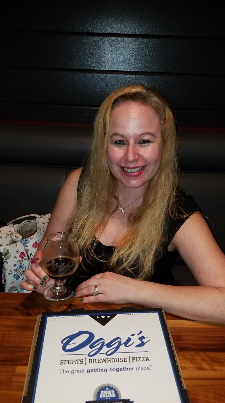Dani with a glass of wine - Oggi's Mission Viejo