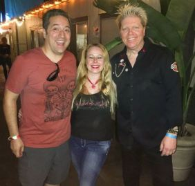 My love and I with Dexter Holland, Lead Singer of Offspring