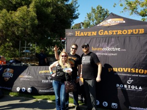 With our friend, Chef Greg Daniels from Haven Gastropub - Sabroso Festival 2017