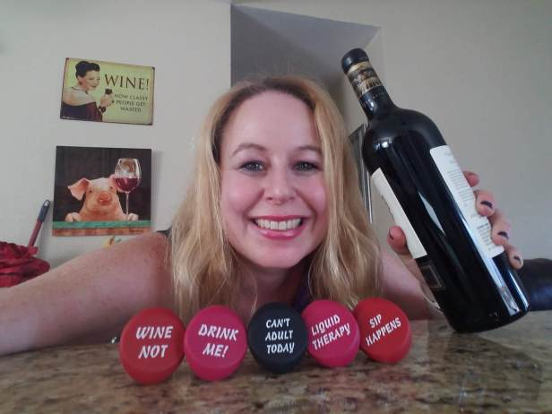 Dani with Wine Stoppers 2