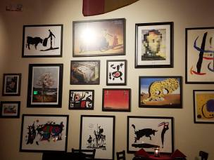 Art work on the wall - Tapas Flavors of Spain Mission Viejo