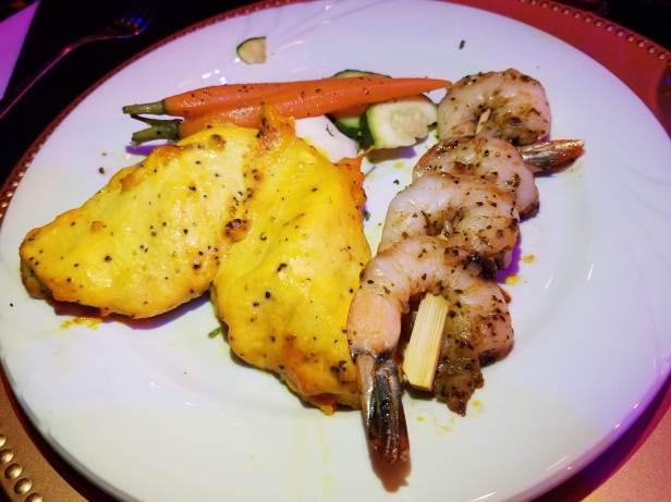 Chicken and Shrimp Main Course - Teatro Martini, Buena Park