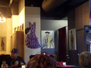 Flamenco Dress and art work - Tapas Flavors of Spain Mission Viejo