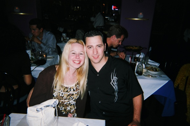 Fun times with my love in July 2002 at Tapas in Newport Beach
