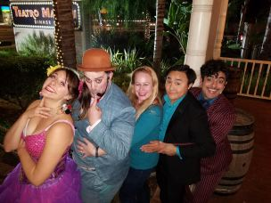 Photos with the cast after the show - Teatro Martini, Buena Park