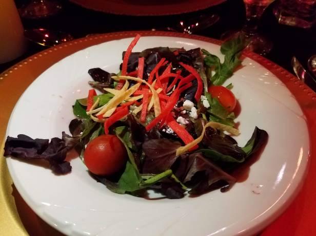 Salad with rasberry dressing - Teatro Martini, Buena Park
