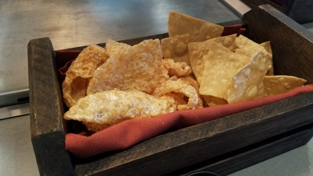 Homemade chips and chicharrones - Descanso, A Modern Taqueria